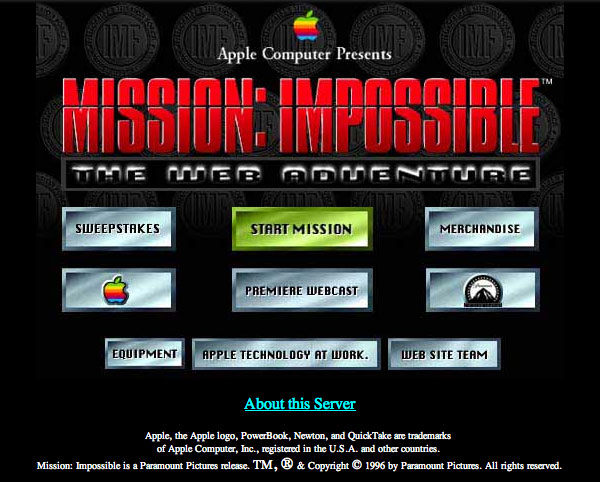 1996 - Apple Computer Presents - Mission: Impossbile - The Web Adventure