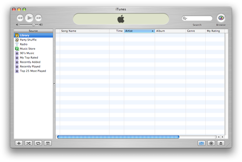 iTunes 4 user interface 使用介面